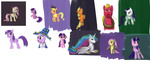 alexmakovsky applejack big_macintosh costume fluttershy princess_celestia rarity rope sketch starswirl_the_bearded twilight_sparkle