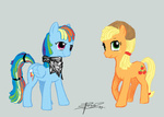 applejack livestream rainbow_dash spectralunicorn