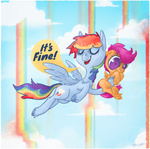 rainbow rainbow_dash scootaffection scootaloo topshot winsome_falls