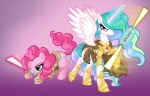 artnerdem crossover lightsaber pinkie_pie princess_celestia star_wars weapon