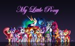 absurdres apple_bloom applejack cutie_mark_crusaders duskie-06 fluttershy highres main_six pinkie_pie princess_celestia princess_luna princess_twilight rainbow_dash rarity scootaloo spike starlight_glimmer starswirl_the_bearded sunset_shimmer sweetie_belle tempest_shadow twilight_sparkle