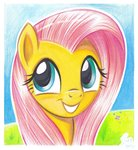 absurdres fluttershy flutterstormreturns highres traditional_art