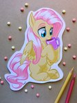 absurdres emberslament fluttershy highres mug traditional_art vistamage