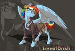 dennyvixen headphones jacket rainbow_dash saddlebags