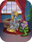 christmas christmas_lights christmas_tree derpy_hooves dinky_hooves rizcifra