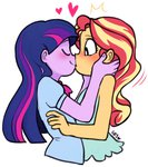 cuteosphere equestria_girls humanized kiss lowres princess_twilight shipping sunlight sunset_shimmer twilight_sparkle