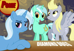 album_cover david_bowie derpy_hooves diamond_dogs diamond_dogs_(album) liska lyra_heartstrings parody the_great_and_powerful_trixie