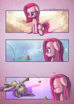 absurdres comic filly highres maud_pie mrs1989 pinkie_pie rock