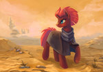 cloak clothes desert highres maytee tempest_shadow