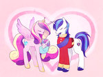 kokumaro princess_cadance princess_flurry_heart shining_armor