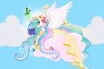 cloud dress fairy flowers lilmandarin magic princess_celestia