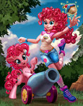 cake cannon equestria_girls harwick highres humanized party_cannon pinkie_pie species_confusion