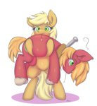 alasou applejack big_macintosh bipedal highres transparent