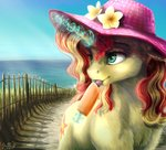 absurdres flowers gaelledragons hat highres magic sunset_shimmer