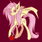 apples bluekazenate flutterbat fluttershy