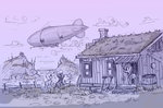 dirigible house original_character traditional_art ulyanovetz