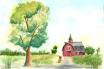 applejack jay156 scenery sweet_apple_acres traditional_art