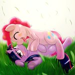 behind-space pinkie_pie shipping twilight_sparkle twipie