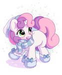 bobdude0 boots highres scarf snow sweetie_belle
