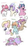 absurdres bon_bon_(tales) bright_eyes clover g1 highres jinbesan melody my_little_pony_tales patch starlight sweetheart