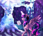 absurdres applejack fluttershy highres magic main_six nessacity pinkie_pie princess_twilight rainbow_dash rarity tree_of_harmony twilight_sparkle