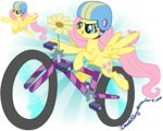 bicycle deathpwny flowers fluttershy helmet transparent