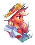 applejack flowers hat highres luciferamon