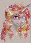 anthro earthsong9405 highres sunset_shimmer traditional_art