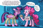 cake clothes highres jowybean pinkie_pie princess_twilight sponge twilight_sparkle