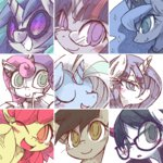 apple_bloom background_ponies glasses kolshica princess_luna rarity raven_(pony) robot sweetie_belle the_great_and_powerful_trixie time_turner twilight_sparkle vinyl_scratch