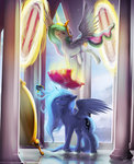 brush highres huge_jerk magic mechagen mirror pillow princess_celestia princess_luna