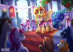 alicorn dress princess_cadance princess_celestia princess_luna rose seanica sunset_shimmer time_turner twilight_sparkle