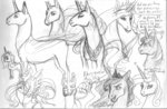 absurdres ackryllis highres princess_celestia princess_luna traditional_art twilight_sparkle