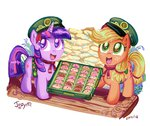 applejack cookie filly girl_scouts jowybean twijacky_weekly twilight_sparkle