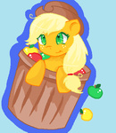 applejack apples artist_unknown barrel mspaint