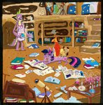 book cygaj library owlowiscious phoenix spike telescope twilight_sparkle