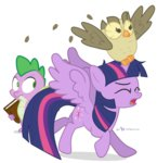book dm29 owlowiscious princess_twilight spike transparent twilight_sparkle