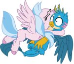 absurdres ejlightning007arts gallus highres hugs silverstream vector