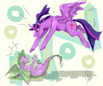 princess_twilight spike twilight_sparkle yowza-buckaroo