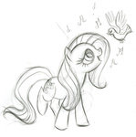 bird fim_crew fluttershy lauren_faust production_art sketch