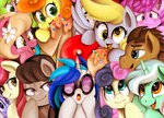 berry_punch daisy derpy_hooves golden_harvest lily_valley lyra_heartstrings octavia_melody rose_(pony) shivall sweetie_drops time_turner vinyl_scratch