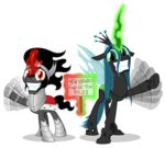 absurdres highres king_sombra magic queen_chrysalis sign transparent zutheskunk