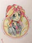 highres humanized sararichard sunset_shimmer traditional_art