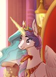badday28 highres magic princess_celestia quill scroll