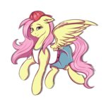 cap clothes fluttershy hat highres shamy-crist