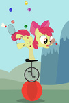 apple_bloom badminton_ball ball ball_on_a_paddle cutie_pox felixabsolved juggling unicycle