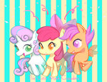 apple_bloom cutie_mark_crusaders mozuright scootaloo sweetie_belle