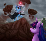 absurdres highres magic palibrik the_great_and_powerful_trixie twilight_sparkle