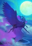 absurdres flying highres moon princess_luna rosycanvas