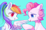 highres leafywind pinkie_pie rainbow_dash